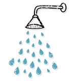 淋浴喷头 免版税库存照片