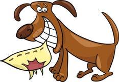 淘气的狗 免版税库存照片