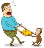 淘气猴子 库存图片