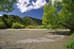 淘金热河 库存图片