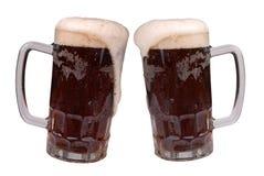 淡啤酒杯子 库存照片