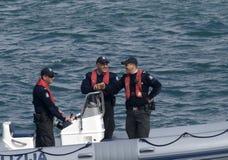 淡啤酒马耳他海上巡逻警察 免版税库存照片