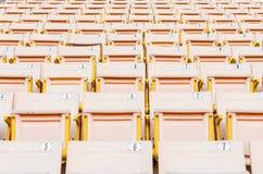 淡桔色的位子 图库摄影