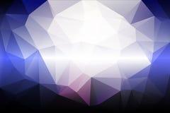 淡粉红的蓝色低多背景 免版税图库摄影