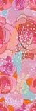 淡粉红色乱画明亮的长的无缝的样式 免版税库存照片