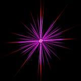 淡紫色星形 向量例证