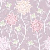 淡紫色春天茶党无缝的样式 库存例证