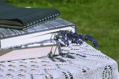 淡紫色是书签 免版税库存照片