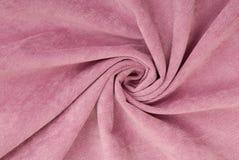 淡紫色条绒织品 库存图片