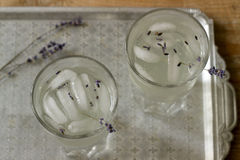 淡紫色柠檬水,土气样式,选择聚焦 免版税库存照片