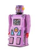 淡紫色桃红色机器人罐子玩具 库存照片