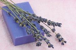 淡紫色肥皂 图库摄影