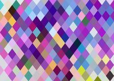 淡紫色蓝色桃红色黄色水晶塑造抽象背景 数字马赛克样式 皇族释放例证