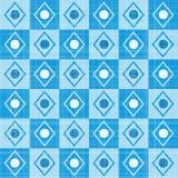 淡色减速火箭的蓝色条纹马赛克格子花呢披肩 免版税库存照片