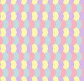 淡色几何六角形无缝的样式 库存照片
