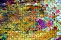 淡色形状染黄紫罗兰色桃红色背景,抽象纹理 免版税图库摄影
