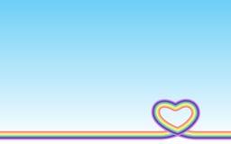 淡色彩虹心脏 库存照片