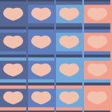 淡色无缝的样式的心脏 免版税库存照片