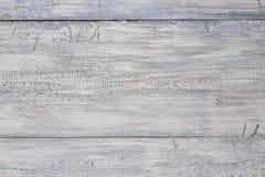淡色木板条 葡萄酒风化了破旧的白色被绘的木纹理背景 库存照片
