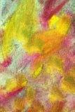淡色树胶水彩画颜料的抽象组合 库存图片
