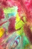 淡色树胶水彩画颜料的抽象组合 免版税库存图片