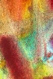 淡色树胶水彩画颜料的抽象组合 免版税图库摄影