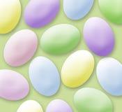 淡色的复活节彩蛋 库存照片