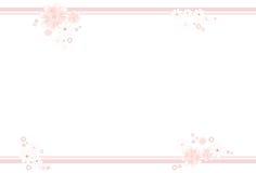 淡色色的花的框架 库存图片