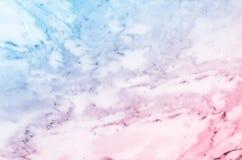 淡色蓝色和桃红色大理石石纹理 免版税图库摄影