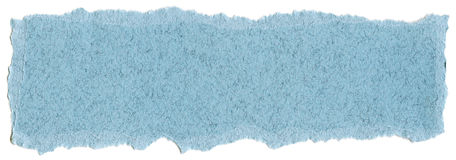 纤维纸纹理-与被撕毁的边缘的淡色蓝色 库存图片