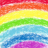 淡色蜡笔被绘的彩虹,图象 免版税库存照片