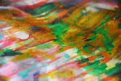 淡色金黄被弄脏的水彩生动的背景,纹理 库存照片