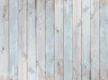 淡蓝的木板条纹理或背景 图库摄影