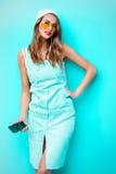 淡蓝的礼服 免版税图库摄影