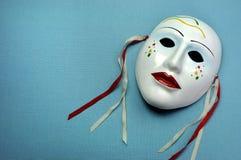 淡蓝的陶瓷面具 免版税库存照片