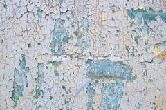 淡黄色和蓝色概略的灰泥背景 免版税库存图片