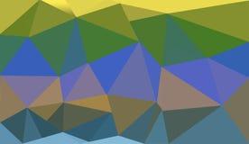 淡黄色多角形例证,包括三角 几何的背景 库存照片