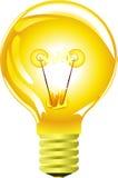 淡黄色的电灯泡 向量例证