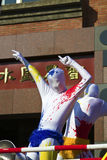 淡水厅,台湾,狂欢节队伍 免版税库存照片