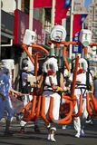 淡水厅,台湾,狂欢节队伍 库存图片