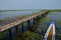 淡水在Thalenoi Phatthalung泰国 库存照片