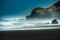 淡水岩石海滩加利福尼亚太平洋海岸 库存图片