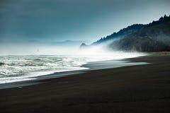 淡水岩石海滩加利福尼亚太平洋海岸 库存照片