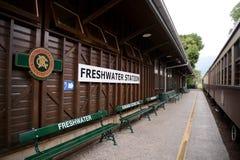 淡水火车站在昆士兰澳大利亚 免版税图库摄影