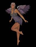 淡紫色天使 库存照片