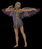 淡紫色天使 免版税库存图片