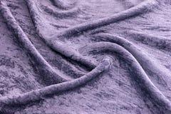 淡紫色天鹅绒特写镜头 纹理和背景的织品宏指令 免版税图库摄影