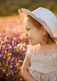 淡紫色女孩 免版税图库摄影