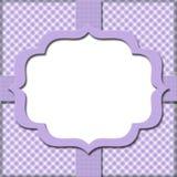 淡紫色方格花布有丝带背景 免版税库存照片