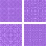 淡紫色无缝的样式背景集合 图库摄影